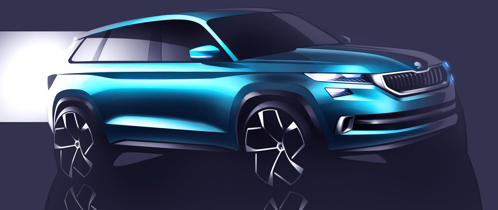 Skoda VisionS is SUV designstudie in Geneve