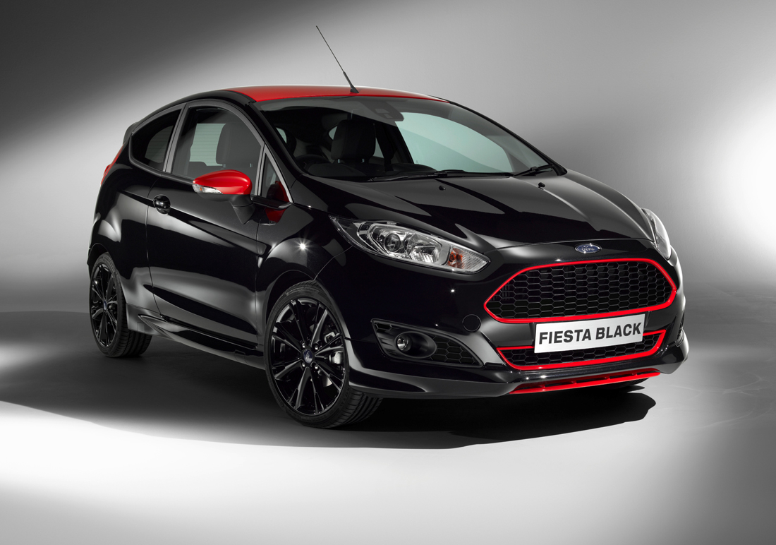 Ford Fiesta Red en Black Editions loeisnel en keihard