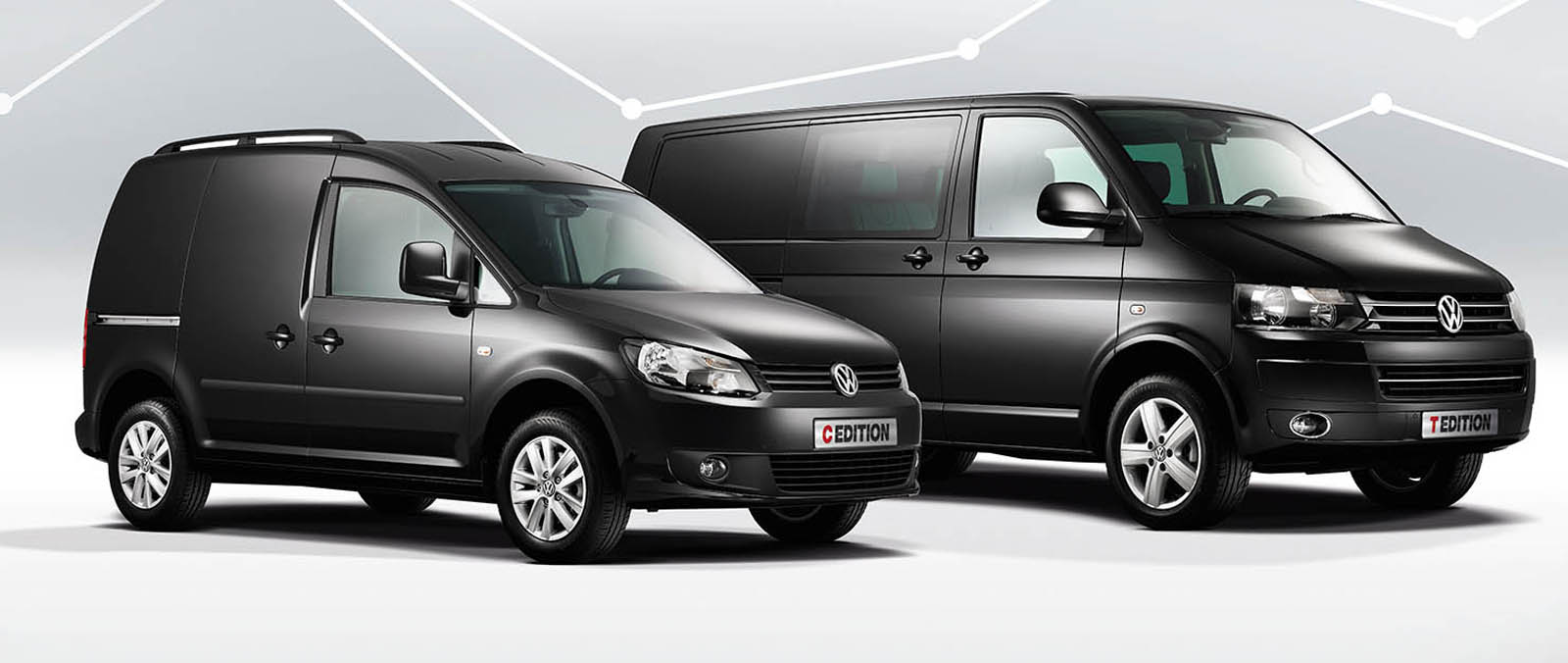 de volkswagen transporter t edition en caddy c edition. Black Bedroom Furniture Sets. Home Design Ideas