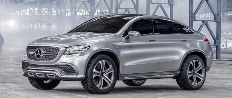 Sportieve Concept Coupe SUV voor Mercedes