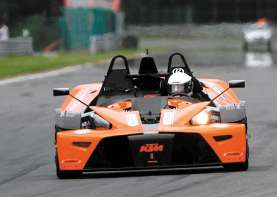 KTM X-Bow op Bavaria City Racing