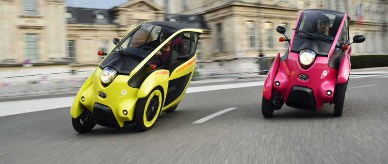 Urban car sharing: de Toyota i-ROAD