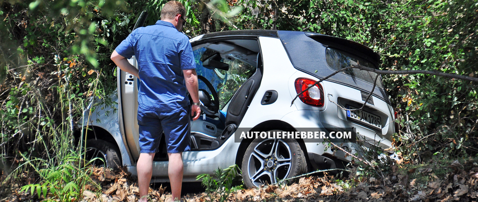 Prototype van Smart ForTwo cabriolet crashed