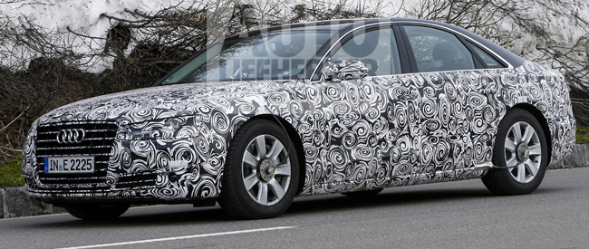 Audi A8 Facelift test in winterse Alpen