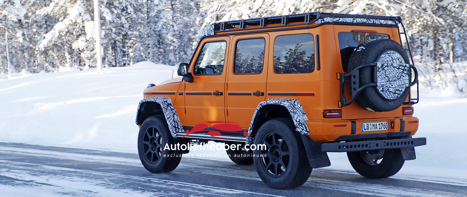 Mercedes G 4x4 wintertest