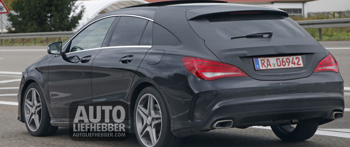 Spyshots achterkant Mercedes CLA Shooting Brake