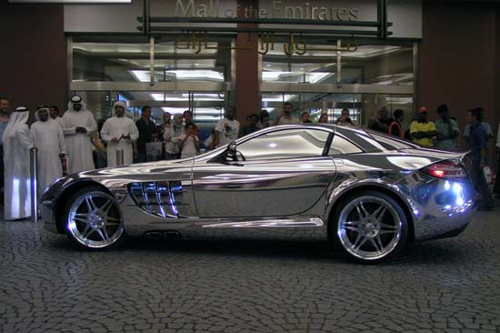 Chromen Mercedes SLR McLaren in Dubai